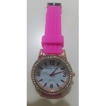 Reloj Nuevo Con Malla De Silicona