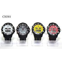 Reloj Unisex Dual Cronómetro Soho Deportivo Cuero Ch381