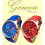Reloj Pulsera Mujer Geneva Novedad Para Regalo