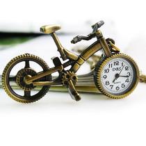 Reloj Colgante O De Mesa Bicicleta Miniatura Retro Con Caden