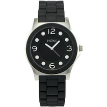 Reloj Mujer Prune Pri 6131 100% Acero Wr Cristal Silicona