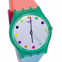 Reloj Swatch Gg 219 Candy Parlour Silicona Colores Wr30mts