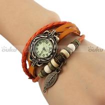 Reloj Vintage De Cuero Para Mujer Hermosos Miralo!!!