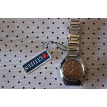 Reloj Citizen Hombre Vintage Acero Inoxidable Nuevo