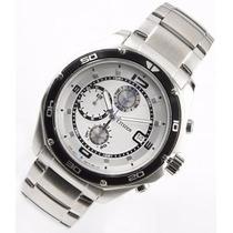 Reloj Citizen An3440-53a Cronómetro Acero 100mt W,r