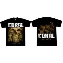 Remera Coral Arrecho Heavy Thrash Rutero Metal Rock Pesado