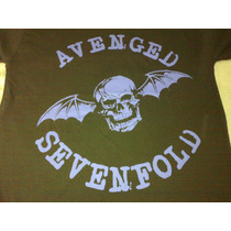Remera Avended Sevenfold C/ Letras Violeta