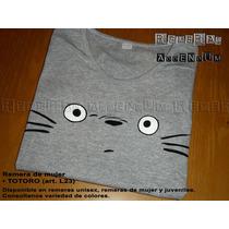 Remeras Juveniles Niñas Totoro Anime Comics 100% Algodón