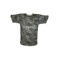 Remera Manga Corta Hombre Camuflada Pixelada Forest Leather