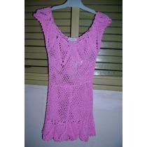 Remera Mujer Hilo Crochet Talle 1 - Muy Fina Marca Portsaid
