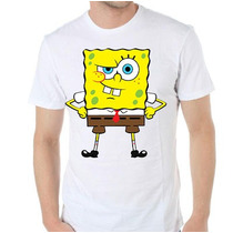 Remera Diseño Exclusivo Estampada Sublimada Bob Esponja