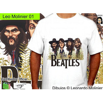 Beatles Caricaturas Remeras Leo Molinier Unisex Damas Top