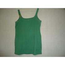 Remera Musculosa Adriana Constantini, Color Verde Talle M