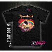 Remeras Rainbow Rising 1 Ritchie Heavy Metal Digital Stamp