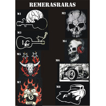 Remeras Rockeras Calaveras, Autos, Motos,logos De Bandas