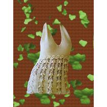 Musculosa Tejida Crochet Sin Forro