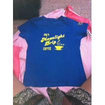 Divina Remera Skater Para Chicas Talle S Azul, Divina!!