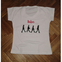 Remera The Beatles - Mod. Mujer - Help Y Abbey Road -