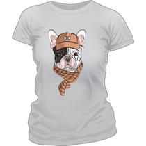 Remera Modal Estampada Sublimada Perro Bulldog Frances