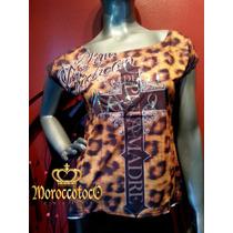 Remeras Mujer Animal Print Leopard