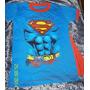 Remeras Niño Superman Con Capa!! (modelo Escudo Gastado)