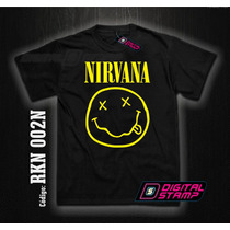 Remeras Nirvana Kurt Cobain 2 Estampado Digital Stamp Dtg