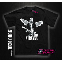 Remeras Nirvana Kurt Cobain 8 Estampado Digital Stamp Dtg