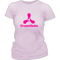 Remera Creamfields Fluo Estampada Ploteada Vinilo