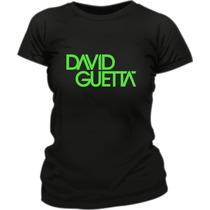 Remera David Guetta Estampada Vinilo Fluo Creamfields 2014