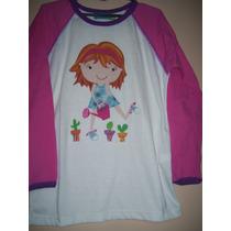 Camiseta Niña Talle 10 Años Marca Flow