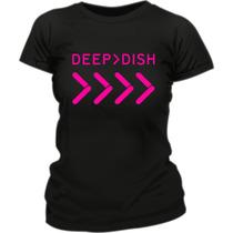 Remera Deep Dish Estampada Fluo Vinilo Creamfields 2014