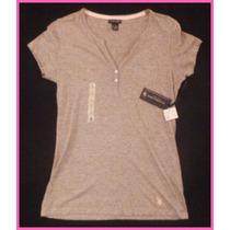 Remera Polo Gris P/ Mujer: Ropa Importada: Nueva Y Original