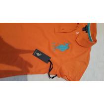 Remera U.s.polo Assn Mujer Original Naranja