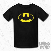 Remeras Estampadas Niños Heroes Batman Superman Dibujos Anim