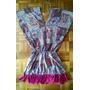 Camisola Vestido Liquidacion (fibrana Con Flecos)