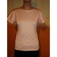 Kill Remera Talle 2 Cuello Redondo Color Naranja/blanco/marr