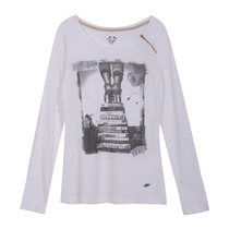 Remera Lee Peggy Tee Ls Cloud Dancer Mujer - 10749548700101