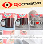 Tazas Ceramica Magica Negra Plastica Personalizada Impresa