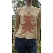 Remeron Rústico De Gamuza Ecologica Mujer Marca Rosh Talle 2