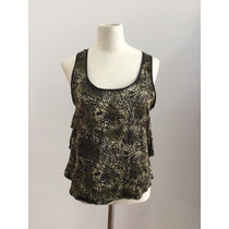 Lupe. Musculosa Con Volados. Animal Print. Talle 1