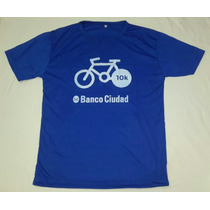 Remera Deportiva Banco Ciudad Bicicleteada 10km Talle M