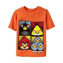 Remeras Angry Birds Original Talle 3 Y 5 Años Import Nuevas!