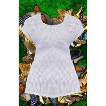 New Out Remera Tejido A Crochet Blanco Varios Talle Algodon