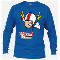 Remeras De Kick Buttowski De Mangas Largas