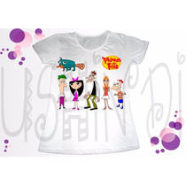 Phineas Y Ferb Candance Perry Remeras Sublimadas