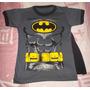 Remeras Manga Corta Batman Niño Con Capa !!