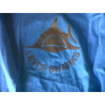 Remera Levis Original Azul Acero Shark Marron Talle M