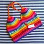 Tejidos Artesanales A Crochet: Crop Top Multicolor!