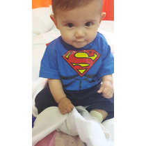 Remera Con Capa Batman Superman Para Bebes