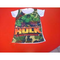 Remeras Niño Minion-spiderman-hulk Mia-frozen-minie-avengers